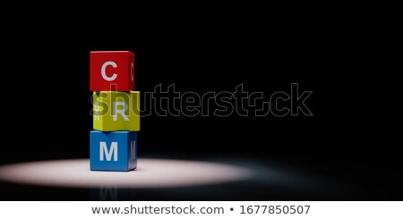 Crm черный красочный текста Сток-фото © make