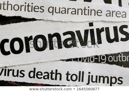 Virus dood touw symbool infectie griep Stockfoto © Lightsource