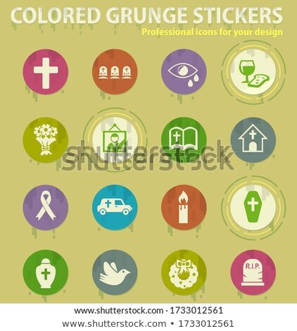 funeral agency colored grunge icons Stock photo © ayaxmr