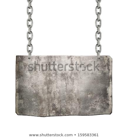 Ipari fém tányér elnyűtt figyelmeztetés csiszolt Stock fotó © evgeny89