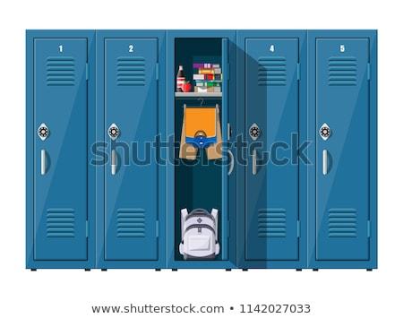 рюкзак ящик рюкзак хранения вектора школы Сток-фото © robuart