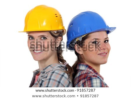 Tradeswomen standing back to back Stock photo © photography33