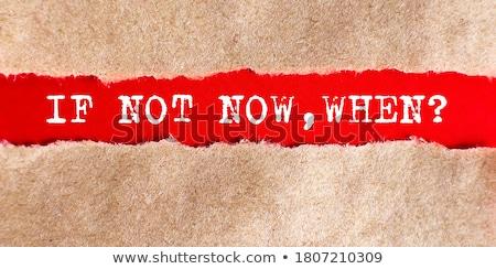 no · ahora · colorido · palabras · pizarra · luz - foto stock © bbbar