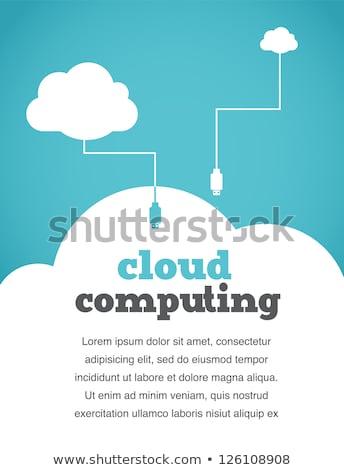 Felhő ötlet terv kéz buborékok kezek Stock fotó © fotoscool