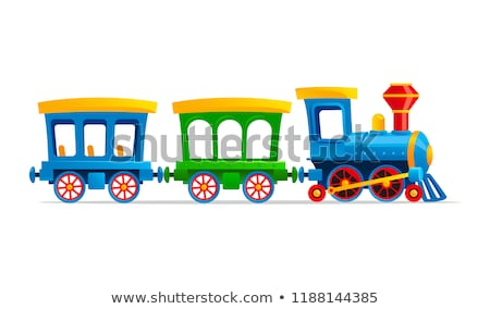 антикварная · пар · поезд · красивой · старые · железная · дорога - Сток-фото © chrisroll
