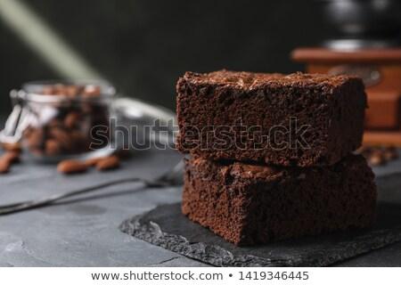 Delicious chocolate pie Stock photo © ivonnewierink