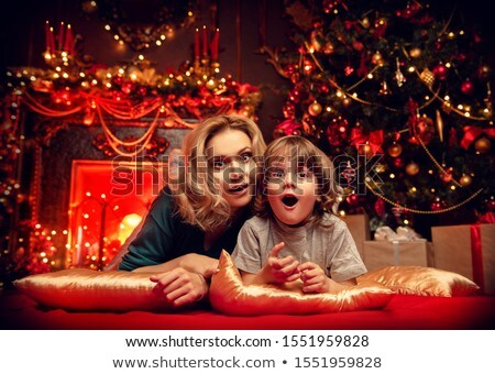 fair-haired mother christmas Stock photo © photography33