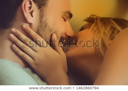 young sexy passion beautiful couple hugging Stock photo © lunamarina