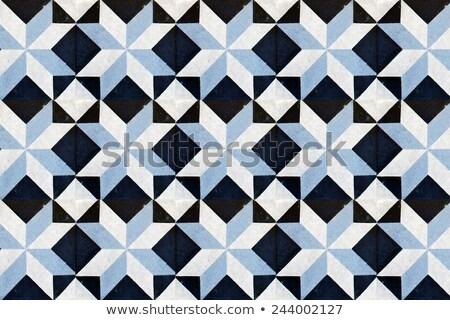 Patroon harmonisch Rood tegels vloer weg Stockfoto © meinzahn