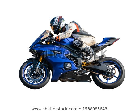 racer on a motorcycle, isolated  Stock photo © OleksandrO
