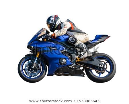 motocicleta · isolado · branco · estrada · projeto · bicicleta - foto stock © oleksandro