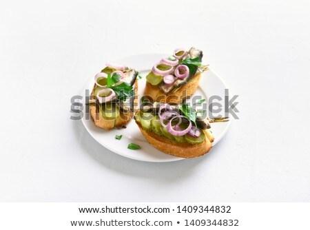 Sprat sandwich Stock photo © Makse