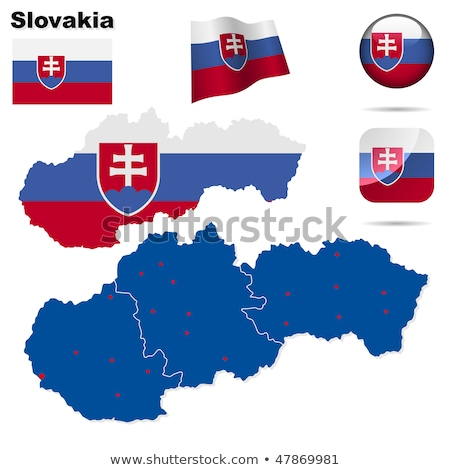 Map on flag button of Slovak Republic Stock photo © Istanbul2009