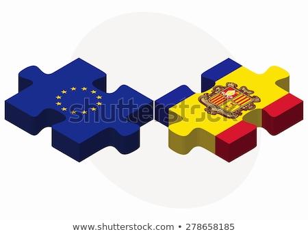 США французский флагами головоломки вектора изображение Сток-фото © Istanbul2009