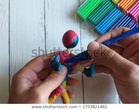красочный · глина · кегли · продовольствие - Сток-фото © tatik22