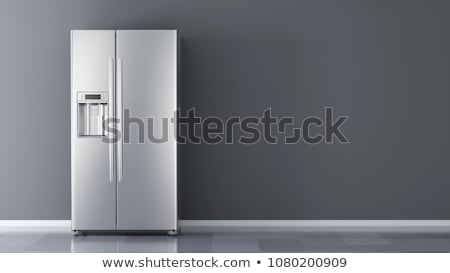 Stock photo: modern refrigerators