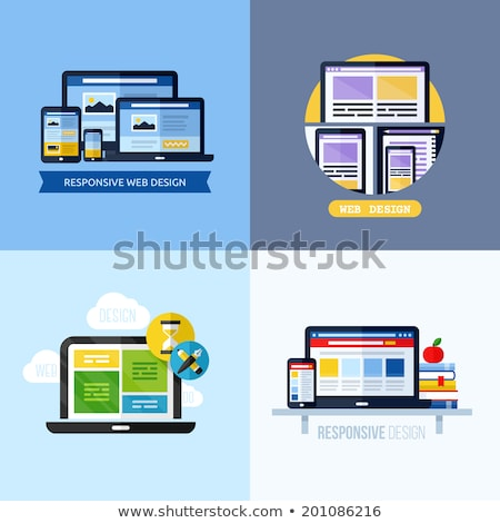 tablet with responsive grid layout Stock photo © netkov1