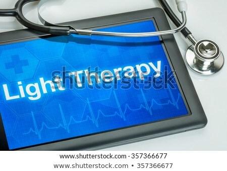 tablet · tanı · depresyon · göstermek · bilgisayar · doktor - stok fotoğraf © zerbor