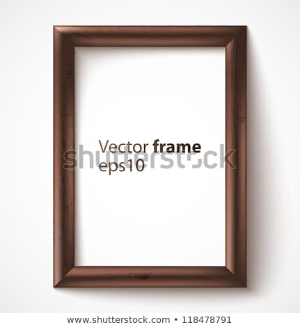 Houten rechthoek frame donkere textuur hout Stockfoto © Voysla