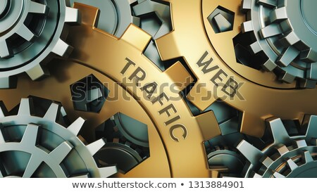 Golden Gears with SEO Performance Concept. 3D. Stock photo © tashatuvango