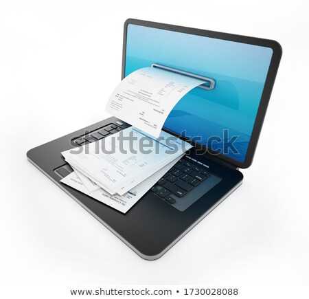 Budget Concept on Laptop Screen. Stock photo © tashatuvango
