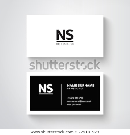 modern black and white business card design Stock photo © SArts