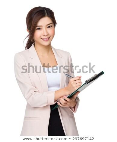 mulher · de · negócios · laptop - foto stock © deandrobot