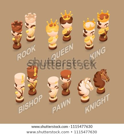 Cartoon schaken pion teken illustratie schaakstuk Stockfoto © cthoman
