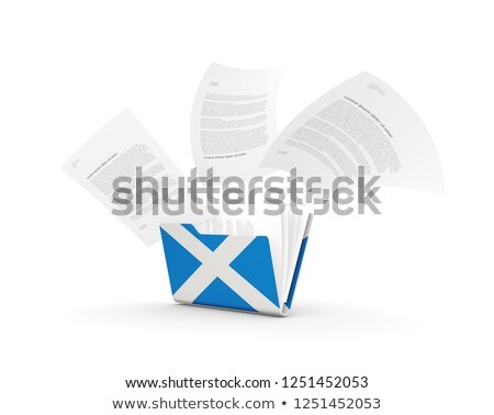 Folder with flag of scotland Stock photo © MikhailMishchenko