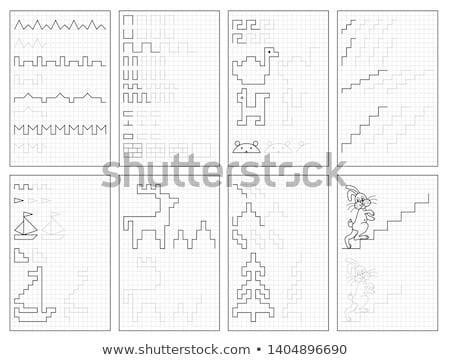 Matematika oktatási iskola gyerekek illusztráció gyerekek Stock fotó © bluering