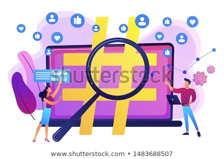 Közösségi háló ellenőrzés virális marketing trendek elemzés Stock fotó © RAStudio