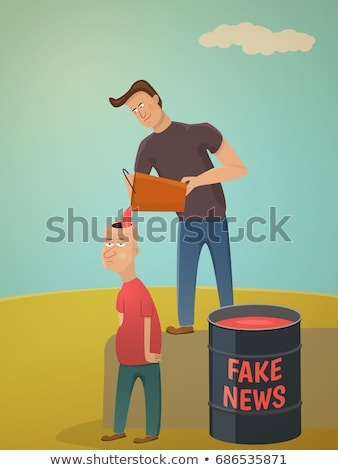 Fake news vector concept metaphor Stock photo © RAStudio