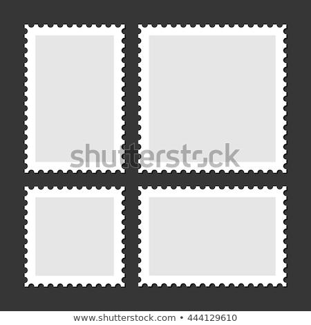 testreszabható · bélyeg · üres · piros · tinta · fából · készült - stock fotó © hermione