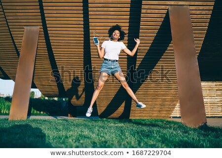 Jumping in Music Stock photo © Spectral