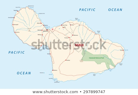 Map of Maui Stock photo © rbiedermann