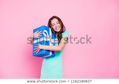 jonge · vrouw · naar · licht · schoonheid · Blauw · reizen - stockfoto © kyolshin