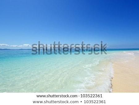 Tropical beach and blue sky, Okinawa stock photo © shihina