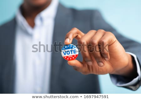 republikánus · buli · gomb · fehér · kék · csillag - stock fotó © creisinger