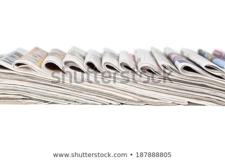 Dobrado jornal raso Foto stock © pakete
