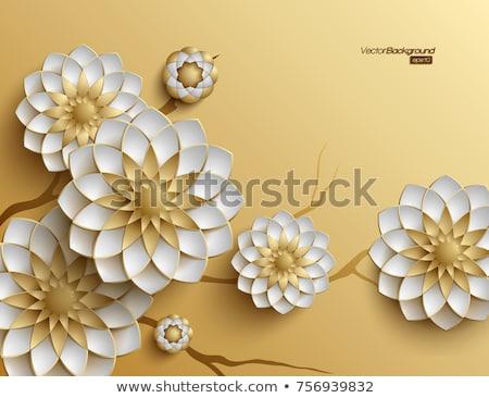 баннер золото цветы аннотация синий Сток-фото © blackmoon979