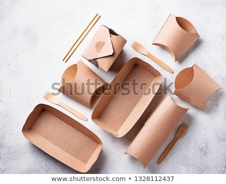 Papier Essen Container Stock foto © devon