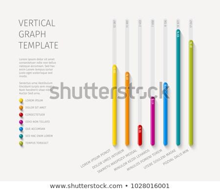 Vector column vertical graph template Stock photo © orson