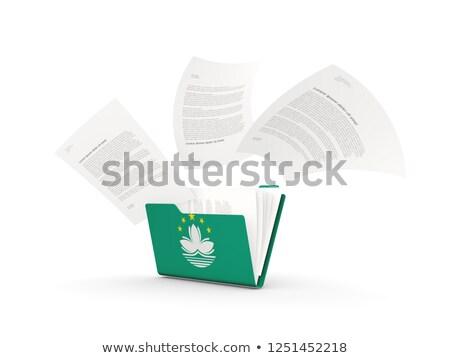 Folder with flag of macao Stock photo © MikhailMishchenko