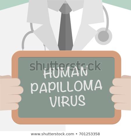 HPV - Human Papilloma Virus On Blackboard Stock photo © ivelin