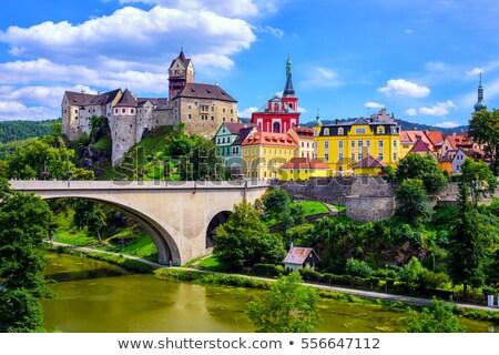 Panorama república colina República Checa floresta arquitetura Foto stock © borisb17