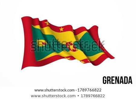 Grenada zászló fehér háttér hullám szalag Stock fotó © butenkow