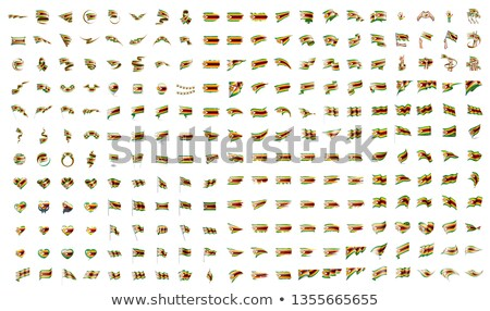 very big collection of vector flags of the Zimbabwe Stock photo © butenkow
