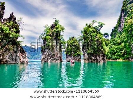 LAN lago Tailandia hermosa naturaleza parque Foto stock © bloodua