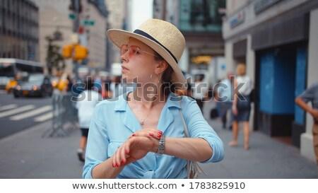 Nowy Jork minuta zegar sieci Pokaż miasta Zdjęcia stock © albund