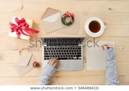 Christmas woman with an empty letter Stock photo © grafvision